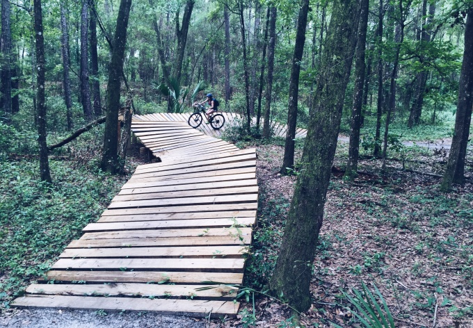 Florida Biking Trails - Mountain Biking Ramps at Santos - on LifeFrosting.com
