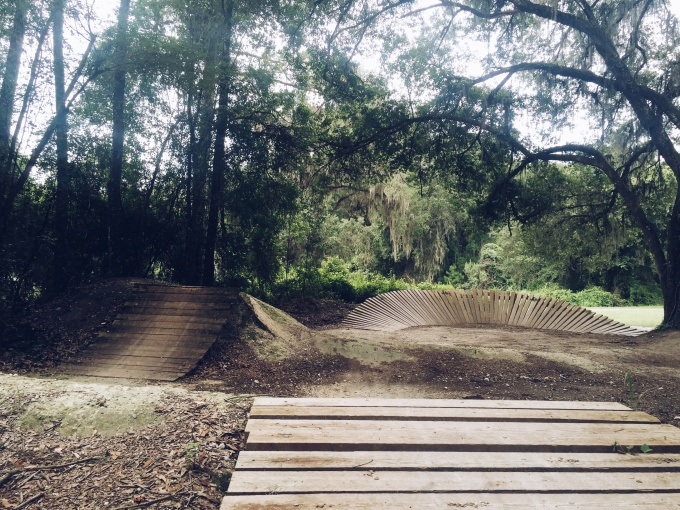 mountain biking ramps at Santos | Lifefrosting.com, a lifestyle blog