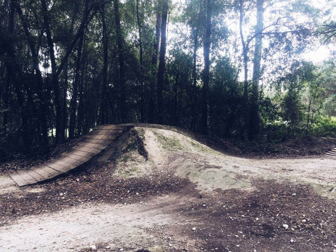 Mountain biking at Santos - fun ramps to try. | Lifefrosting.com
